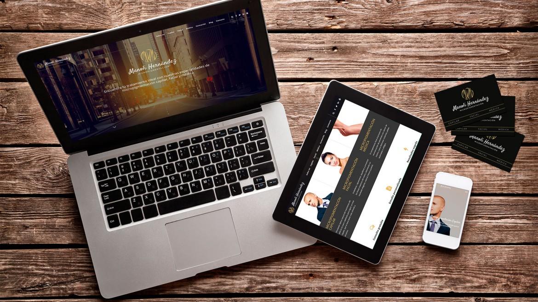 Nueva imagen de marca y web de Manoli Hernández, con adaptación a cualquier dispositivo.