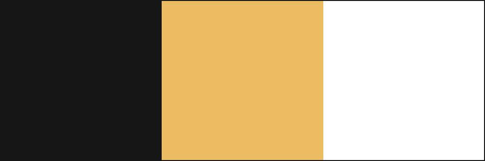Colores corporativos de la nueva imagen de Manoli Hernández: gris antracita, dorado y blanco.